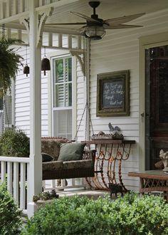 70 Gorgeous Farmhouse Front Porch Decorating Ideas - napier news Country Porches, Farmhouse Front Porches, Southern Front Porches, Outdoor Rooms, Outdoor Living, Outdoor Decor, Outdoor Sheds, Home Porch, Outside Living