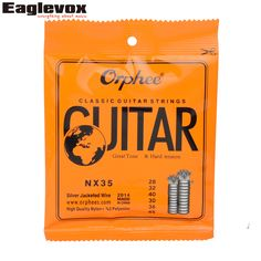 "Sliver Jacketed Hard Tension Classic Guitar Strings 028/045"" High Quality Nylon Orphee NX35 #Affiliate"