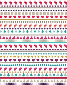 This could be great pattern paper or border for a Christmas layout