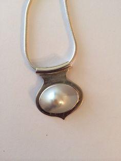 Vintage+sterling+necklace+blister+pearl+signed+by+zeldastrunkstop,+$75.00