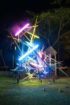 kerim seiler light art installation