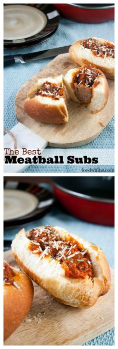 The BEST meatball subs my family has tasted. The kids practically inhale them!