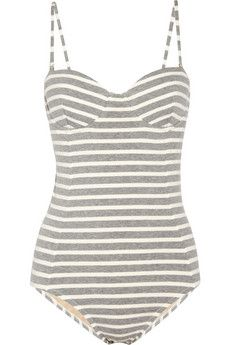 striped stretch cotton swimsuit from j.crew