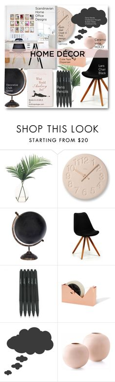 """""""Home Decor Office"""" by voguefashion101 ❤ liked on Polyvore featuring interior, interiors, interior design, home, home decor, interior decorating, NDI, Lemnos and Anthropologie"""