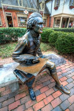 Thomas Jefferson bronze, Colonial Williamsburg, Virginia Z Colonial Williamsburg Va, Williamsburg Virginia, Thomas Jefferson, Bronze, Statues, William And Mary, Virginia Is For Lovers, Old Dominion, Sea To Shining Sea