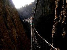 Tibetan Bridge claviere , province of Turin , Piemonte region Italy