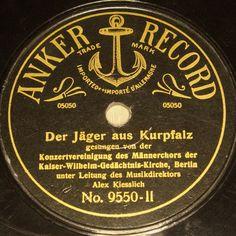 ALEX KIESSLICH w. Choir  Der Jäger aus Kurpfalz  ANKER RECORD 78rpm 10