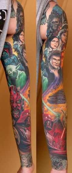 I wouldn't want something like this, but pretty amazing Star Wars sleeve.