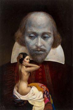 Mainstream Illustration, Bill Edwards (American, Nothing Like the… Mona Lisa, Auction, Comics, American, Illustration, Artwork, Painting, Work Of Art, Auguste Rodin Artwork