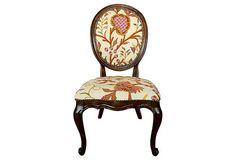 Accent Chair w/ Handwoven Fabric on OneKingsLane.com