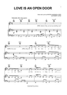 """Love Is An Open Door"" from 'Frozen' Sheet Music: www.onlinesheetmusic.com"