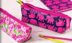 Preppy Lilly Pulitzer Pencil Pouch, $10.00 (http://www.purseladytoo.com/lilly-pulitzer-pencil-pouch/) - Tusk in Sun and First Impression