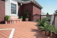 Wood plastic composite deck flooring material is an environmentally sustainable and virtually maintenance free deck all in one.