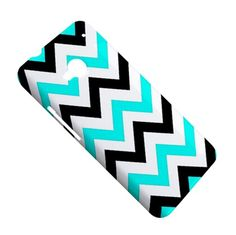 Cool HTC ONE Cover Black Blue Chevron Zig Zag Pattern HTC One M7 Case
