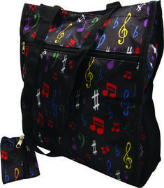 3e4ce32b0082 Perfect for the on-the go music lover. This tote features a zip top