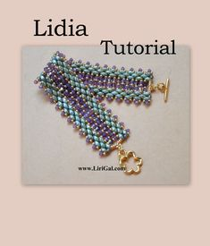 Lidia Super duo Beadwork Bracelet PDF Tutorial by Lirigal on Etsy