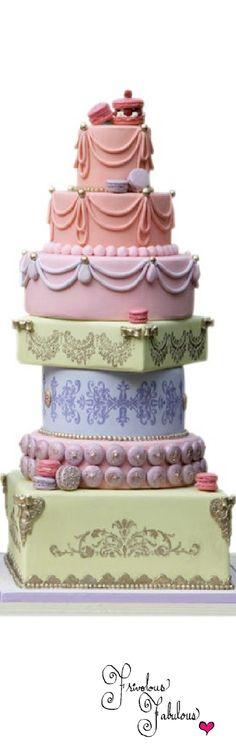 Frivolous Fabulous - Marie Antoinette Inspired Cake Nadia & Co.