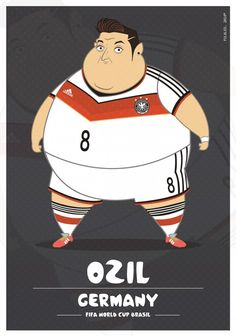 Colombia-based illustrator Fulvio Obregon has created a series of illustrations, in which he imagined World Cup soccer players as. Fat Football Player, Best Football Players, Soccer Players, Cristiano Ronaldo, Messi Vs Ronaldo, Football Design, Football Art, Football Stuff, Soccer World