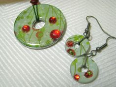 Metal Washers pendant & earrings