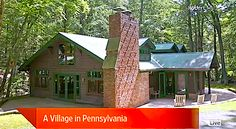 WSJ House of the Week: A Village in Pennsylvania (VIDEO) Pennsylvania, Shed, Real Estate, Outdoor Structures, Cabin, House Styles, Plants, Home Decor, Decoration Home