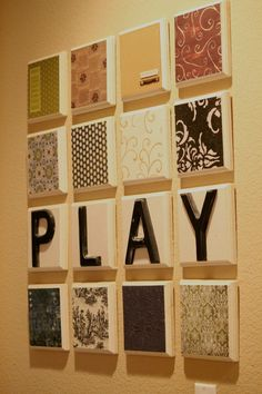 $1 wood plaques at michaels and add letters on top