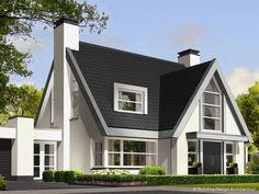 Building Design Architectuur Modern Bungalow House, Modern Mansion, Home Building Design, Building A House, Modern Villa Design, Attic House, Dream House Plans, Stone Houses, Cottage Homes