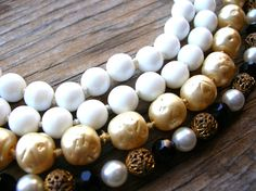 Vintage Necklace Lot  Pearl Necklace Glass Bead by 2VintageGypsies