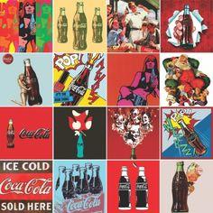 Adesivo de parede Coca Vintage