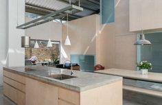 amenagement cuisine design industriel beton plan de travail