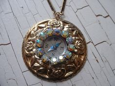 Upcycled Compass Rose Necklace