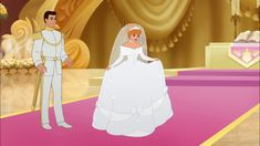 Screencap Gallery for Cinderella III: A Twist in Time Bluray, Disney Sequels). Lady Tremaine gets her hands on the Fairy Godmother's wand, then turns back time to the day Cinderella tried on the glass slipper. Disney Princesses And Princes, Disney Princess Dresses, Cinderella Dresses, Disney University, Cinderella Movie, Cinderella Wedding, Cinderella Original, Movie Wedding, Wedding Stuff