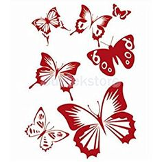 Amazon.com: 2016 NEW Wall Painting Butterfly Stencil Pattern: Home & Kitchen