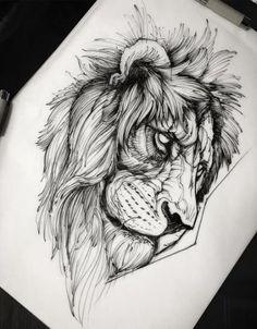 Lion Head Tattoos, Leo Tattoos, Feather Tattoos, Black Tattoos, Leo Tattoo Designs, Sketch Tattoo Design, Tattoo Sketches, Elephant Tattoo Design, Elephant Tattoos