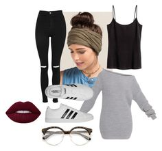 """""""20"""" by hermanrizek on Polyvore featuring Francesca's, Topshop and adidas"""