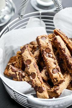Low Fat Choc Chip Cookie Sticks #recipe #cookies #dessert
