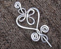 Celtic Heart and Swirls  Shawl Pin / Scarf by nicholasandfelice, $ 20.00