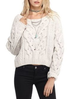 Free People White Sticks and Stones Pullover