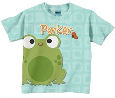 Frog Toddler Shirt Personalized Boys Tee by SimplySublimeBaby, $24.95