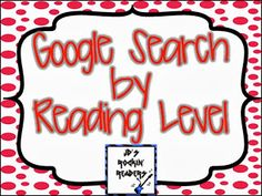 Do you want Google to actually give your students meaningful results? Now you can! Click through to see how to use the reading level so even your youngest Kindergarten, 1st, and 2nd grade learners are getting materials at an appropriate level for them when they do online research.