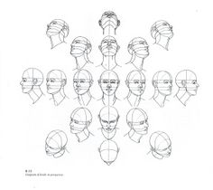How to Draw a Head from Many Angles - Use this drawing tutorial to teach high school students proportion and positioning. Great drawing ideas for sketchbook assignments. Drawing The Human Head, Brain Drawing, Drawing Heads, Anatomy Drawing, Drawing Skills, Drawing Techniques, Figure Drawing, Drawing Sketches, Painting & Drawing