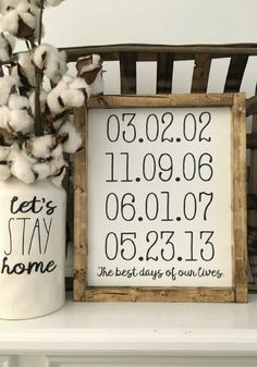 As a single momma, I'd love to have this with my kids birthdays! Best Days of Our Lives - Personalized Dates, Family sign, Wood Framed Sign, Rustic Decor, Farmhouse Style Decor, Handwritten Font, Gallery Wall, Rustic sign, Farmhouse sign, gift idea #ad