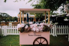 Veuve Clicquot Flower Cart at the Clicquot Polo