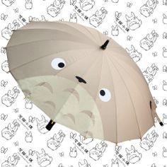 宫崎骏正版龙猫多多洛totoro复古风16骨创意龙猫表情高精制长柄伞-淘宝网