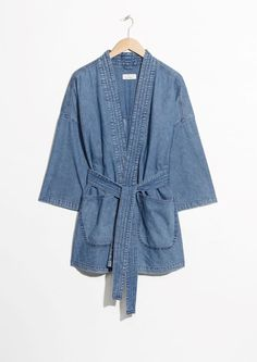Other Stories image 2 of Denim Kimono in Blue Denim Outfit 589280a22