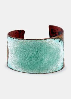 Serenity Copper & Glass Cuff
