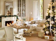 Una Navidad de nieve y oro: 15 ideas para decorar tu casa