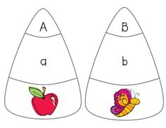 Students have to match the capital letter, lower case letter, and a picture with the letter sound.
