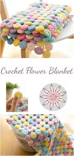 Step-by-step guide for those who want to crochet a flower blanket on their own by following our tutorial with additional video material.