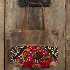Thai Vintage Leather Tote!!  Fantastic. #naturallife, #pinittowinit, #pinhappy