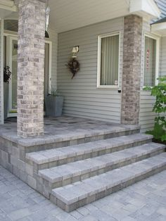 The Front Porch Is Typically Concrete We Can Lay Over The Concrete Add Bullnose Pavers And A